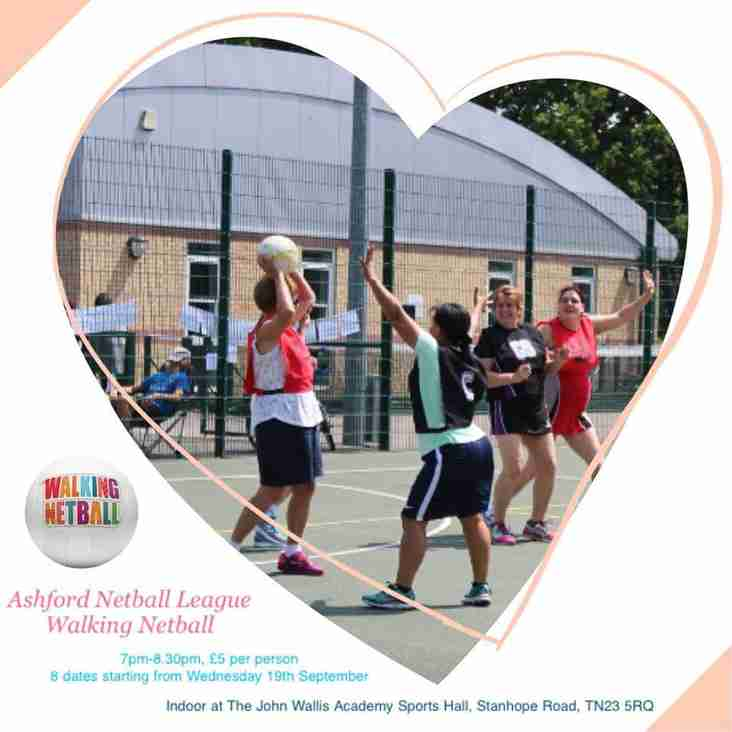 Walking netball comes to Ashford