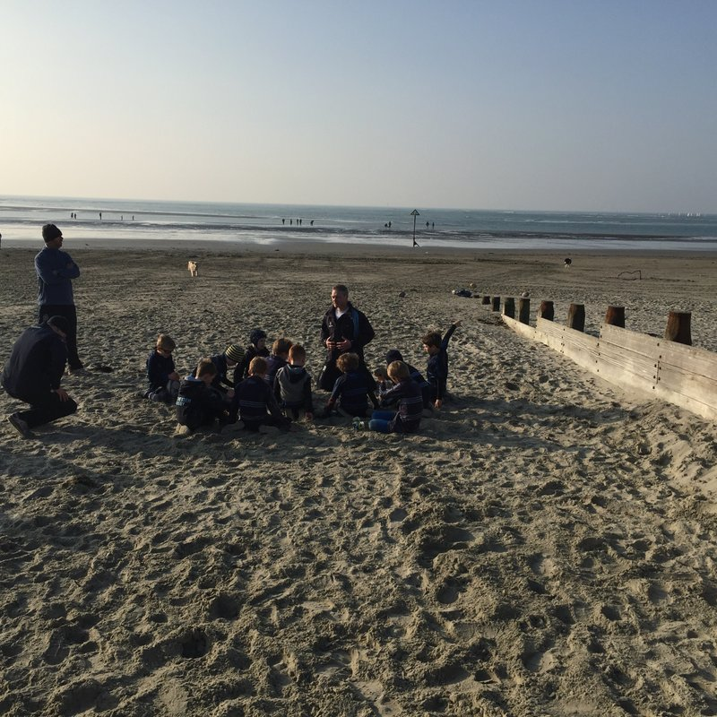 U8s Training at West Wittering