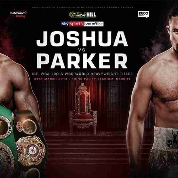 Anthony Joshua v Joseph Parker Live in Siddal Club ........................