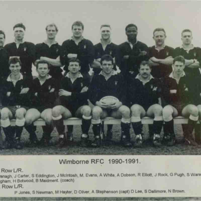 Wimborne 1st XV 1990/91