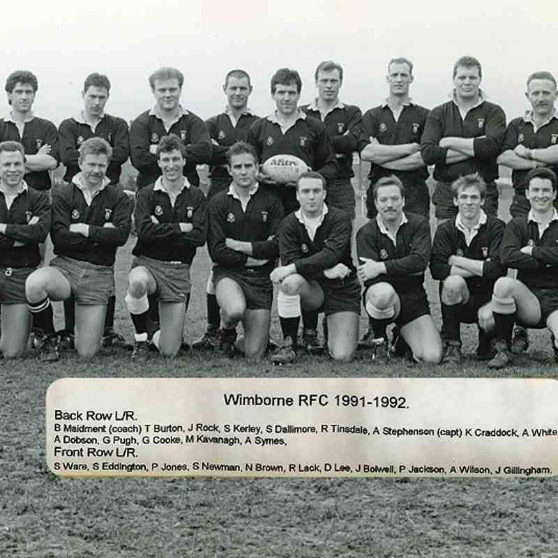 Wimborne 1st XV 1991/92