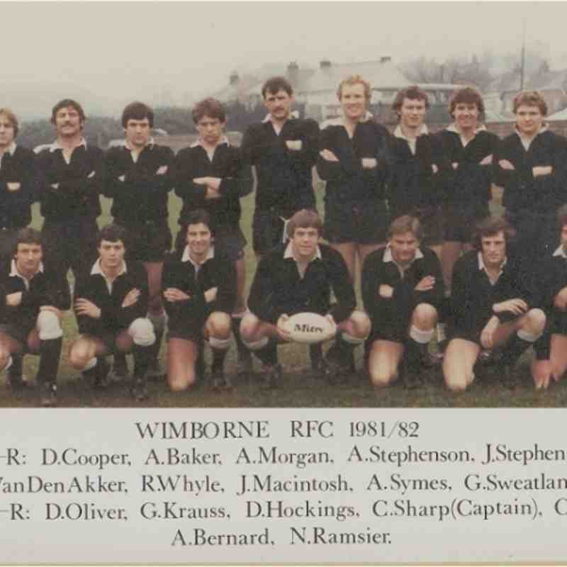 Wimborne 1st XV 1981/82