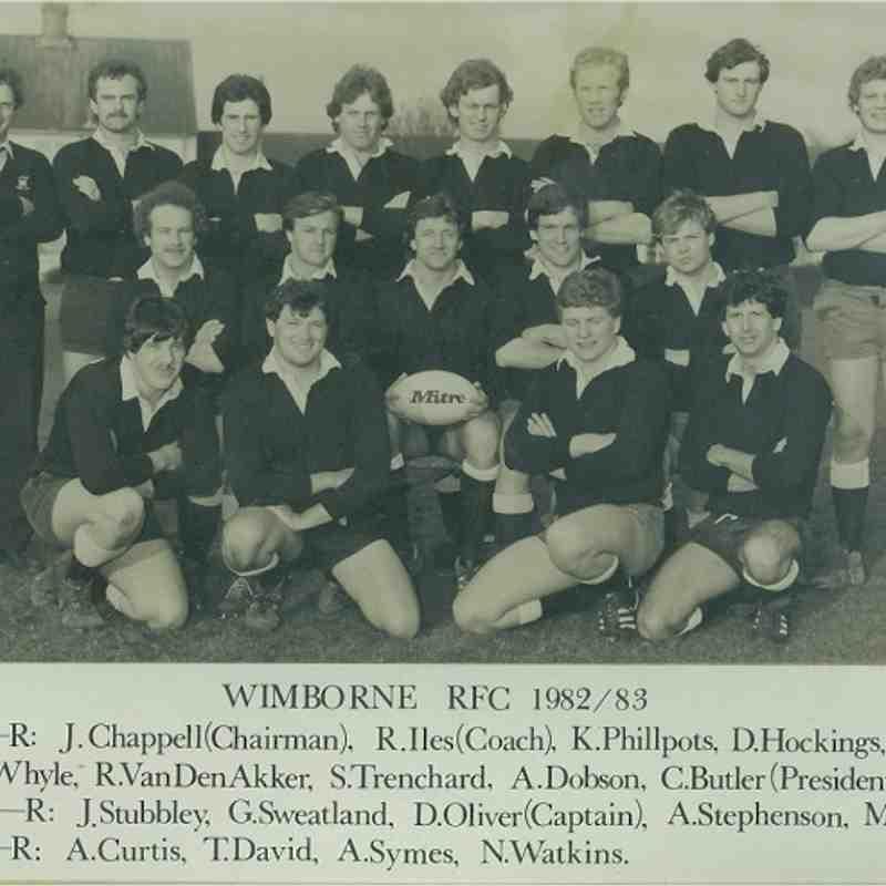 Wimborne 1st XV 1982/83