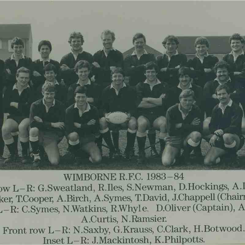 Wimborne 1st XV 1983/84