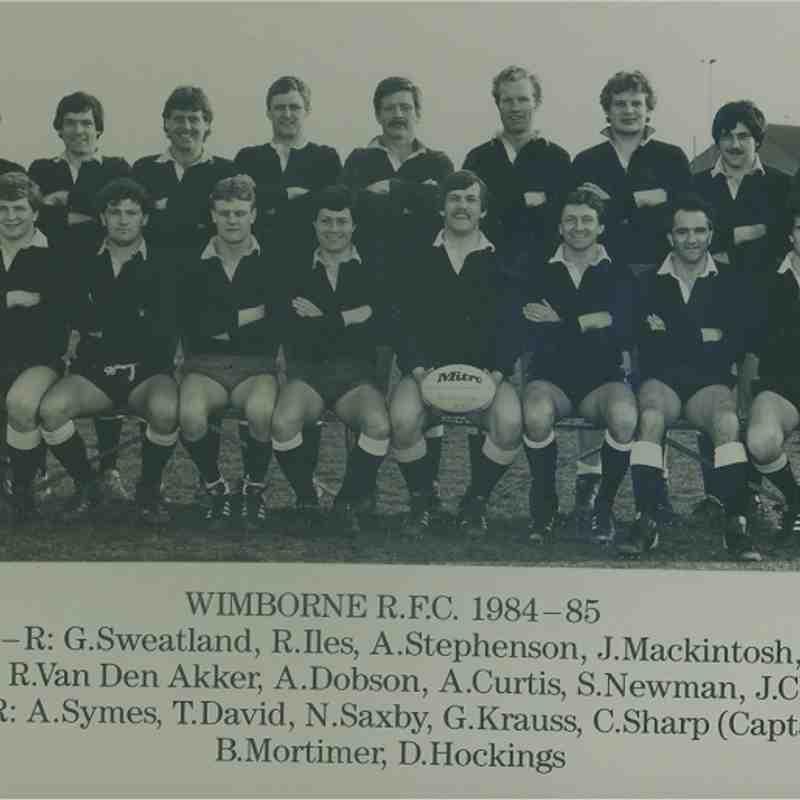 Wimborne 1st XV 1984/85