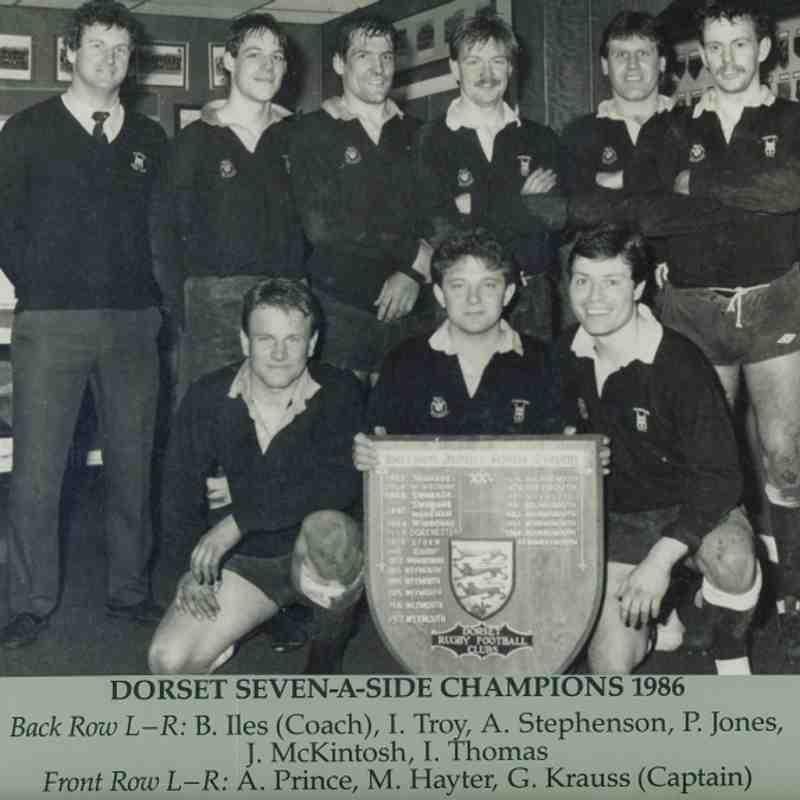 Wimborne 1st XV 1985/86