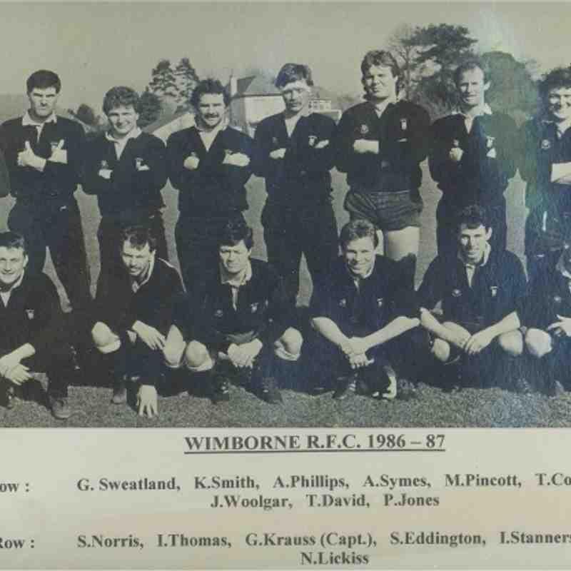 Wimborne 1st XV 1986/87