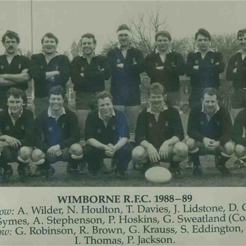 Wimborne 1st XV 1988/89