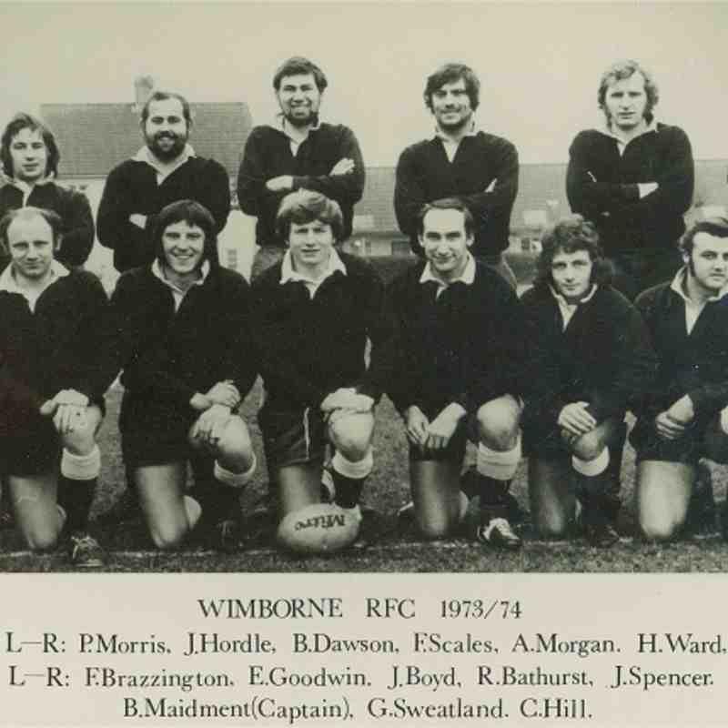 Wimborne 1st XV 1973/74