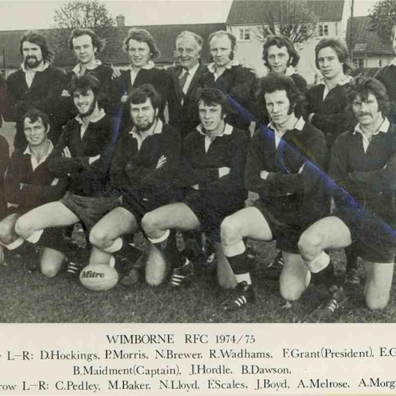 Wimborne 1st XV 1974/75