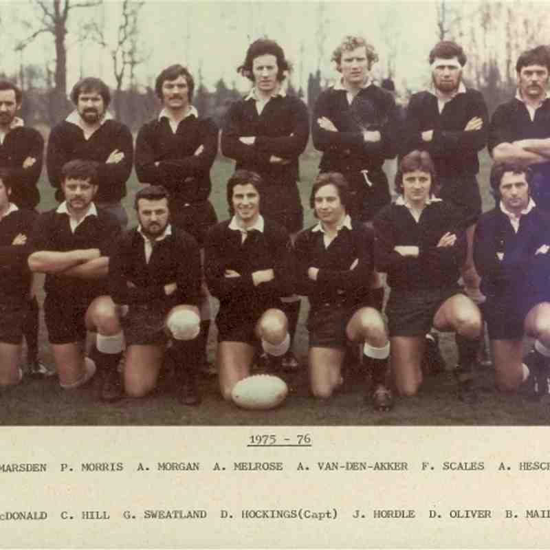 Wimborne 1st XV 1975/76