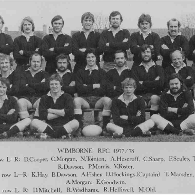 Wimborne 1st XV 1977/78