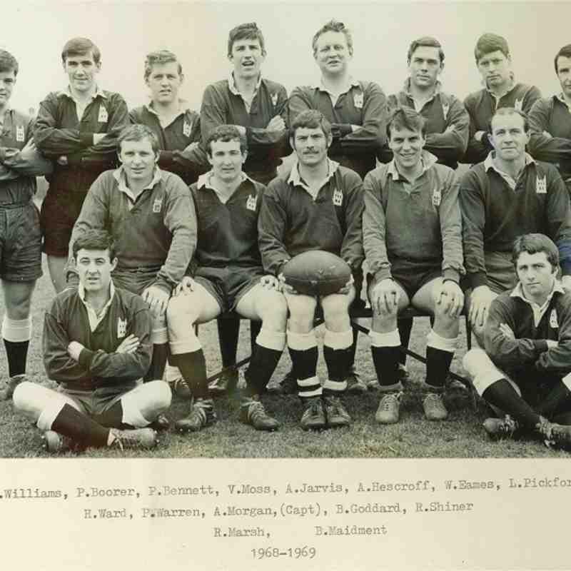 Wimborne 1st XV 1968/69