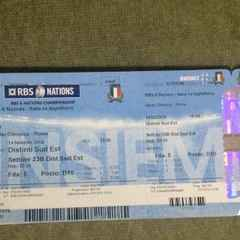RBS 6 Nations. Italy vs England. 2 Tickets (no charge)