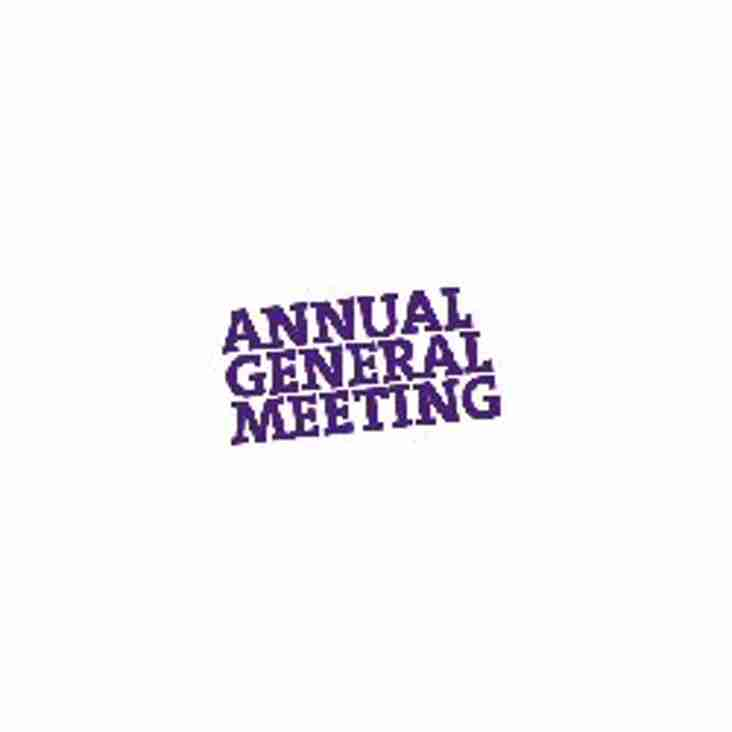 Club AGM will be held on Tuesday 25th April
