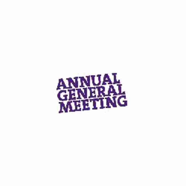 Club AGM Tuesday 24th April 7.00pm - Agenda