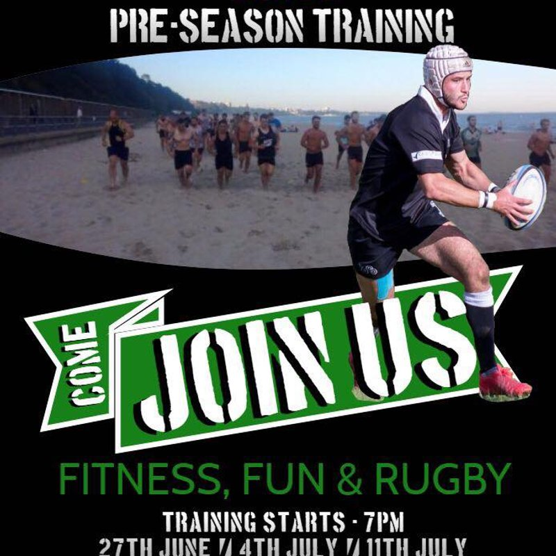 Pre-Season Beach Training 27th June, 4th July & 11th July