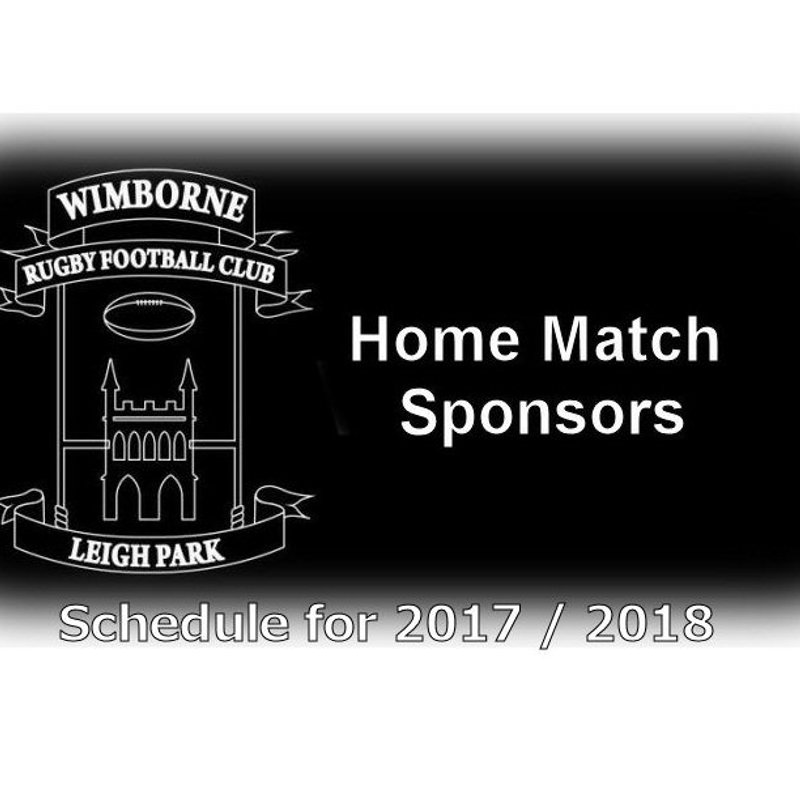 Check out the schedule for our Home Match Sponsors this season