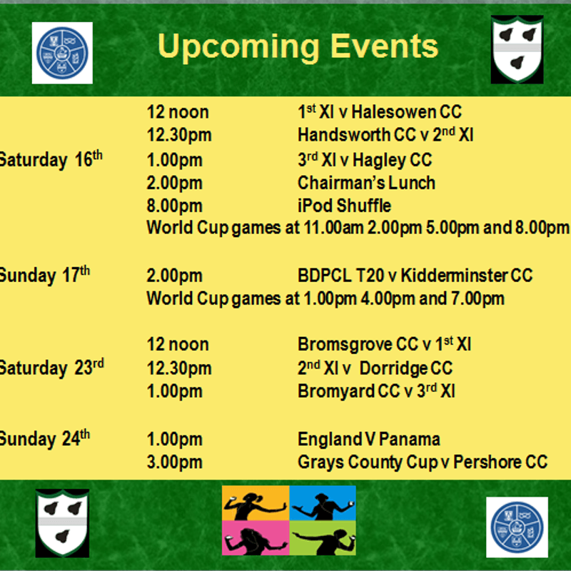 Busy times ahead - events at the club