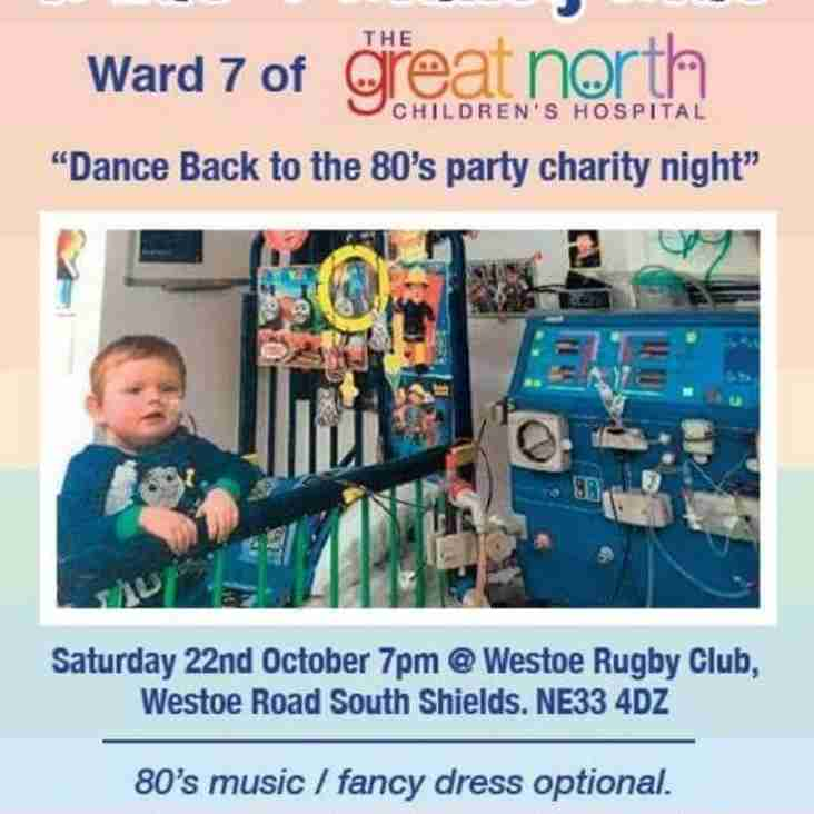 Dance back to the 80's charity night Saturday 22nd October