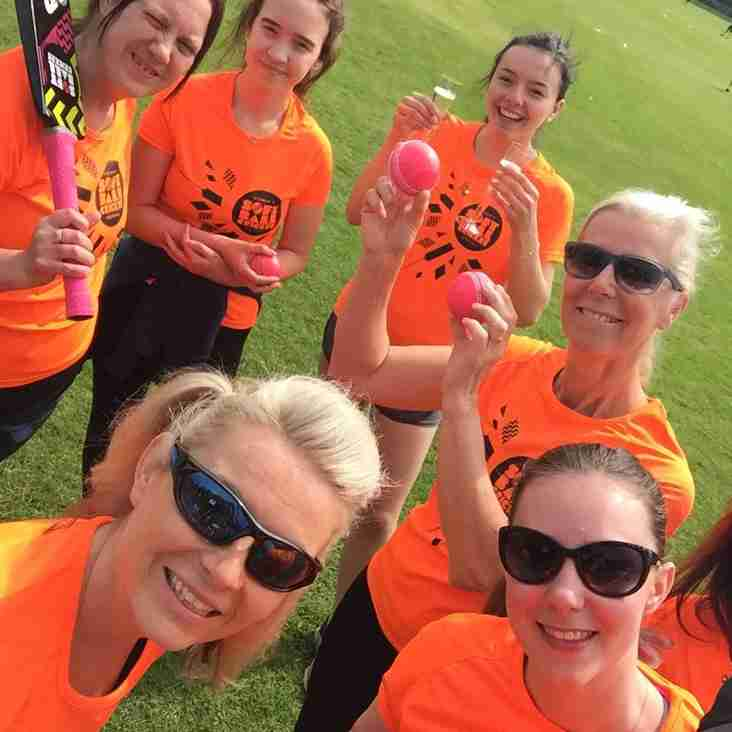 Ladies and Girls Cricketers Up And Running