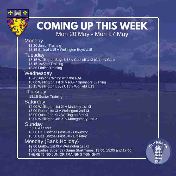This Week: RAF Visit, U13s Cup Action, Bank Holiday Fixtures