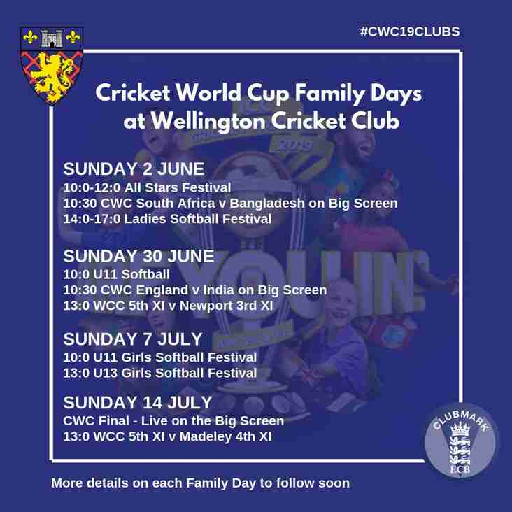 Introducing our CWC19 Family Days