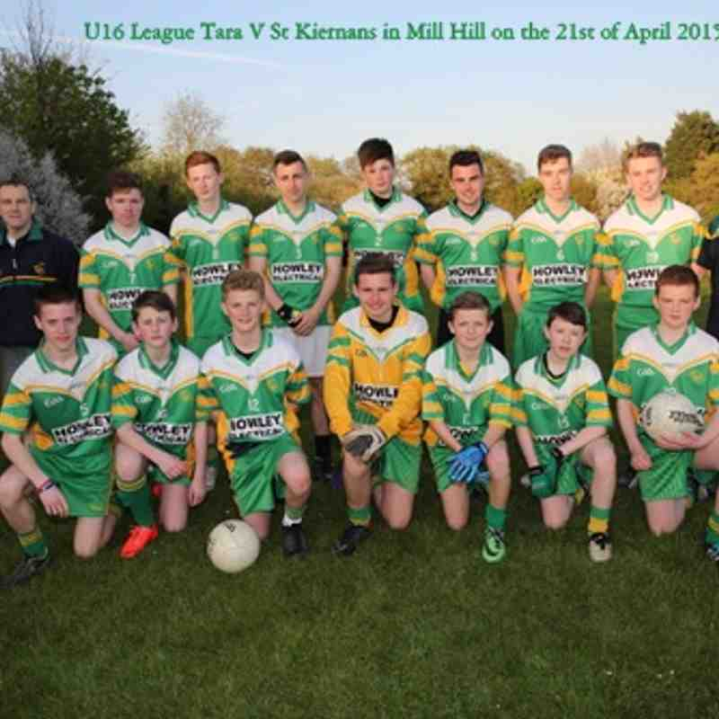 U16 Football League Tara 0-07 v St Kiernans 2-06 at Mill Hill 21-4-2015