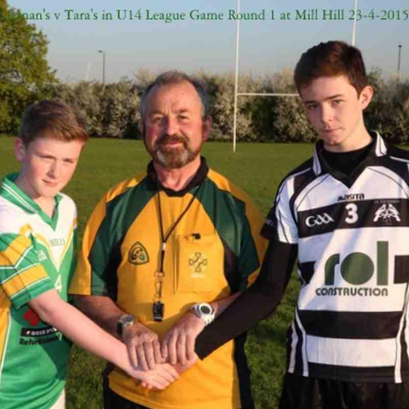 1-04 Tara's  1-04 to 7-08  St Kiernan's  U14 Football League Round 1 on 23-4-2015