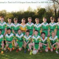 1-04 Tara's  1-04 to 7-08  St Kiernan's  U14 Football League Round 1 on 23-4-2015