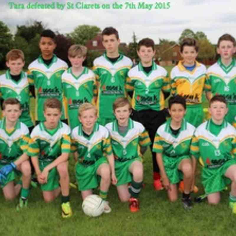 U14 Tara defeated by St Clarets 7-05-2015 at John Billam