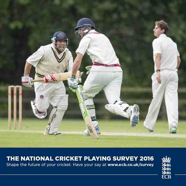 National Cricket Playing Survey 2016