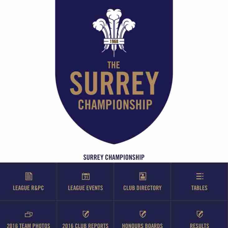 New Surrey Championship App