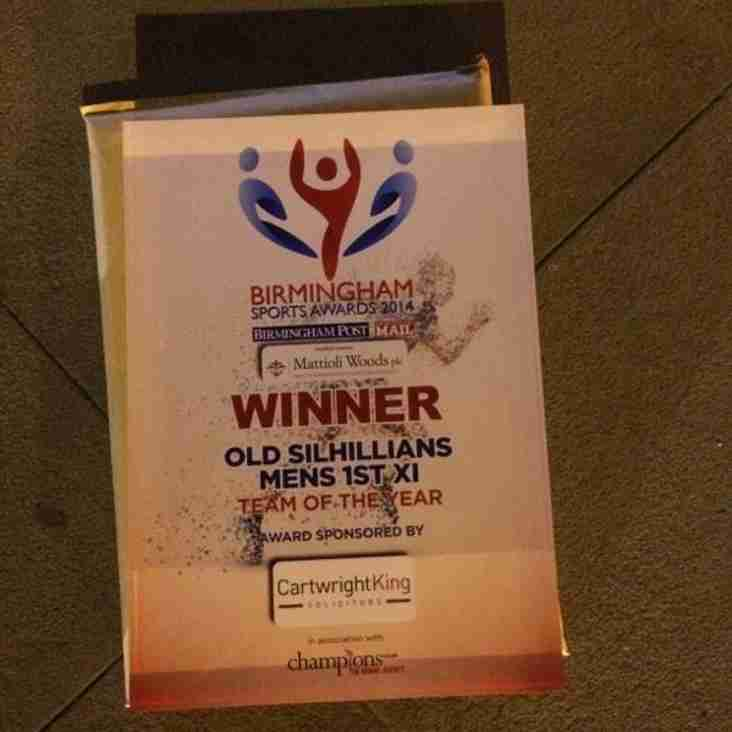 M1 win Birmingham Sport - Team of the Year