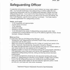 Safeguarding Officer for Club.