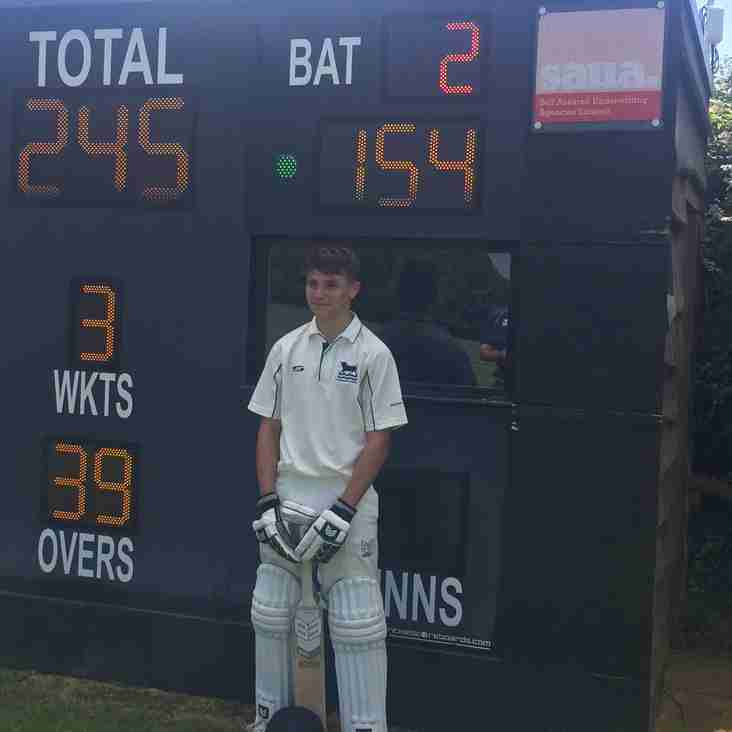 Aidan Wilkinson scores 154 not out for Oxfordshire. The highest ever!