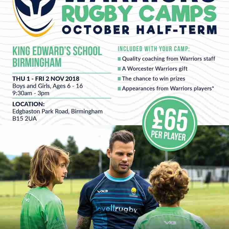 Worcester Warriors - Half Term Camp