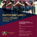 Match Day Lunch - Saturday 24th November