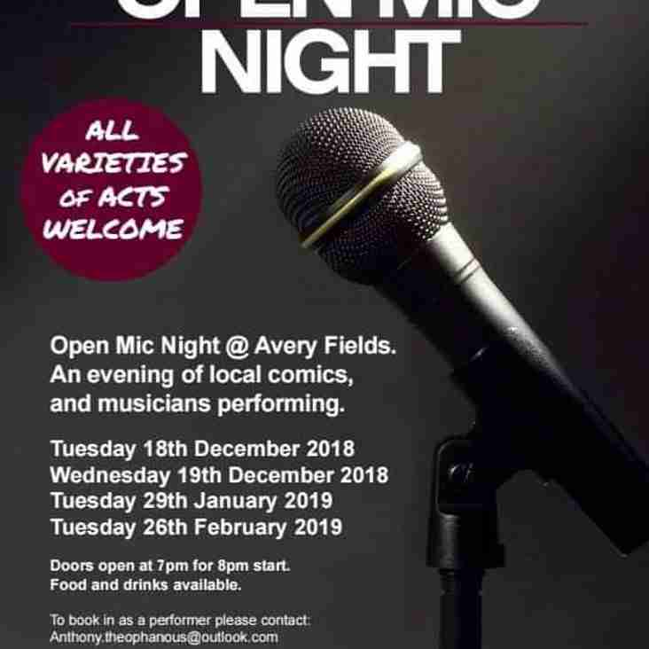 Open Mic Night is Back....