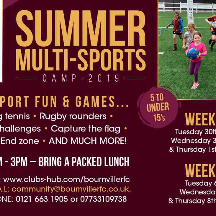 Introducing our Summer Multi-Sports Camp