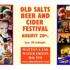 Beer and Cider Festival at Old Salts 20th. August 2016