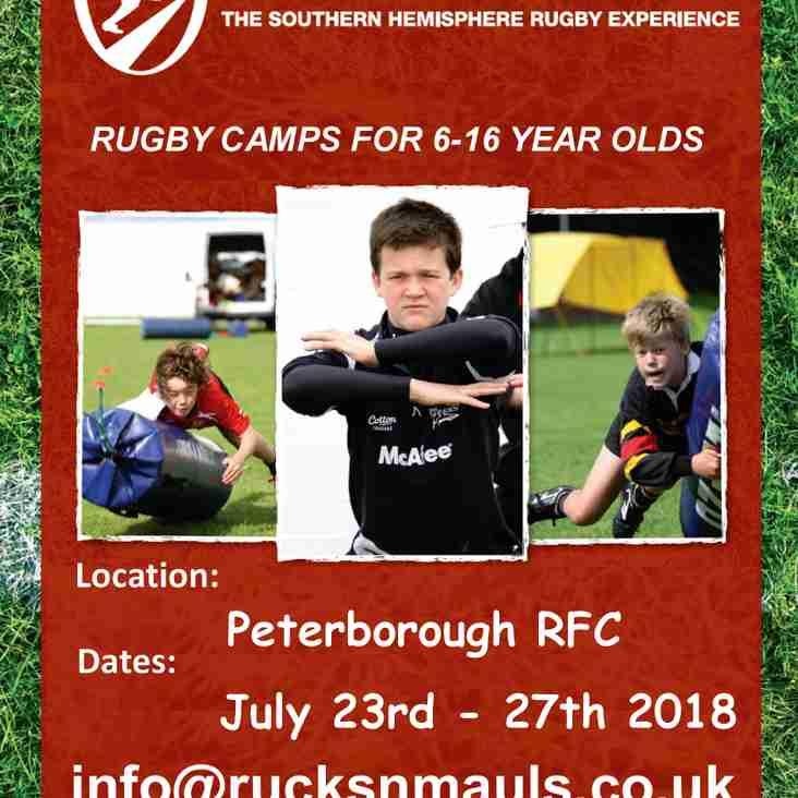 Rucks and Mauls Summer Camp 23rd - 28th July 2018
