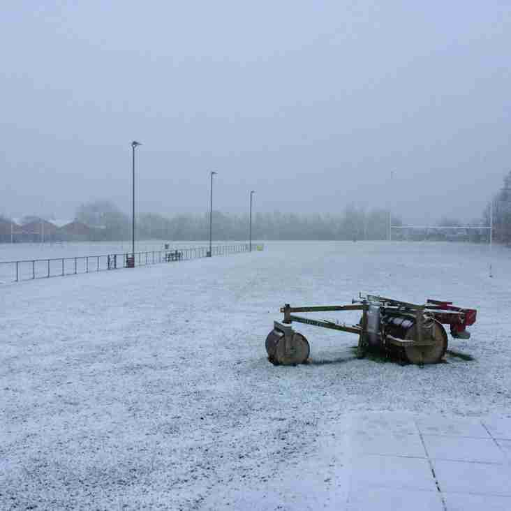 Sunday 4th March - All M&J Matches/Training Cancelled