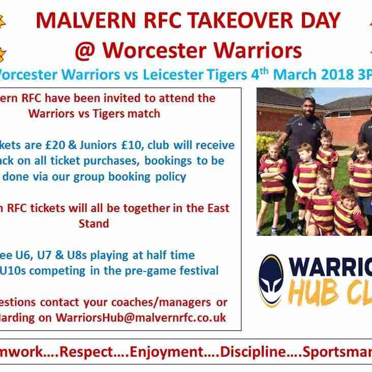 Malvern RFC Minis & Juniors are off to SixWays