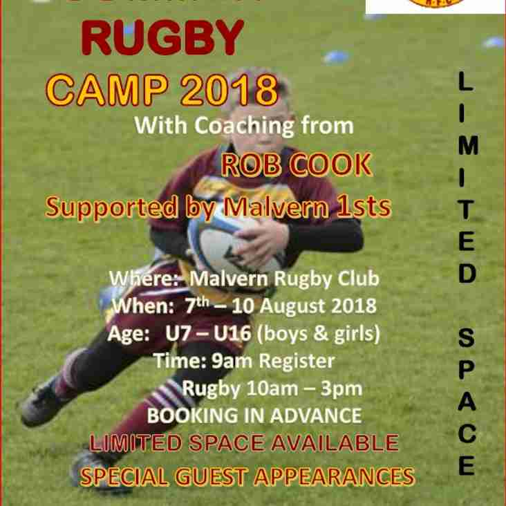 Malvern RFC M&J Summer Rugby Camp