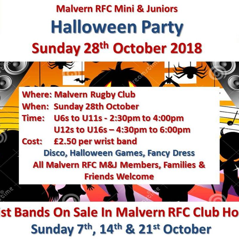 Mini & Juniors - Halloween Party - Sunday 28th October 2018