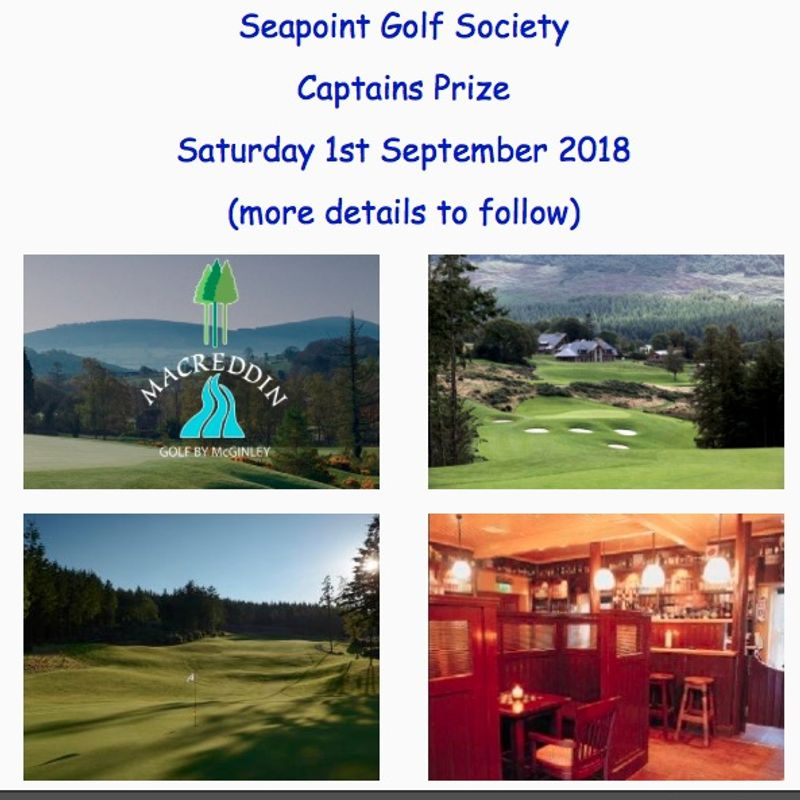 Seapoint Rugby Club - Golf Society