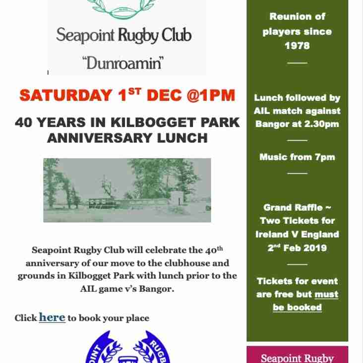 40 Years in Kilbogget Park