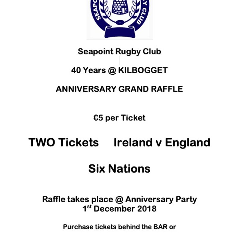 40th Anniversary Raffle