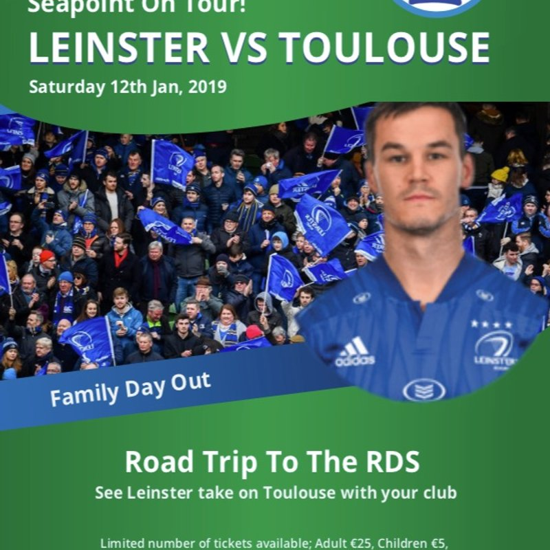 Road Trip to the RDS Leinster v Toulouse